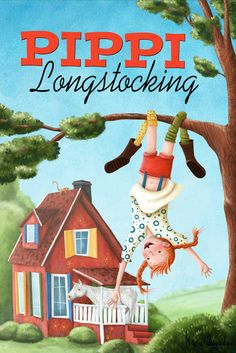 'Pippi Longstocking' by Maria Bogade on artflakes.com as poster or art print $16.63