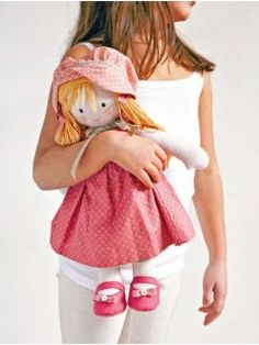 Doll in Pink Sewing Pasttern