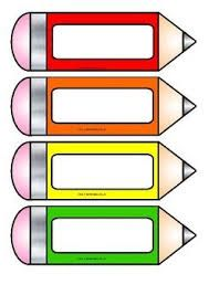 Free printable pencil accents from Instant Display Teaching Resources. Could be used as bookmarks, name-tags, tray labels etc. Includes solid colour, metallic, glitter and two types of blank pencils which children could decorate for their own label. Classroom Labels, Classroom Organization, Classroom Decor, Name Tag For School, School Frame, Beginning Of School, Back To School, Pencil Labels, Printable Name Tags