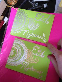 Eid Mubarak cards. Henna design