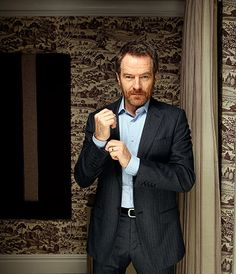 Bryan Cranston photographed by Richard Saker at the Soho hotel in London for The Observer