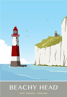 Beachy Head and Belle Tout lighthouses. A4 A3 & A2 from £12