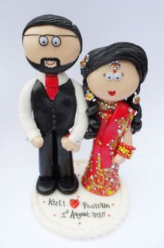 Asian Bride And Groom Cake Toppers Uk