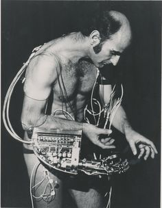 """rudygodinez: Stelarc, The Third Hand, Stelarc had a """"third hand"""" produced for hi by a group of Japanese robotic engineers, whic. Robotics Engineering, Robot Arm, Futuristic Design, Electronic Art, Sculpture, Body Modifications, Human Nature, Postmodernism, Art Plastique"""