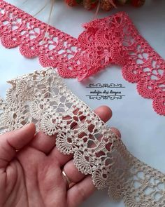 Crochet Placemat Patterns, Crochet Border Patterns, Crochet Boarders, Crochet Lace Edging, Thread Crochet, Filet Crochet, Crochet Designs, Crochet Doilies, Knitting Patterns