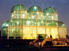 greenhouse at Curitiba Botanical Gardens, Brazil