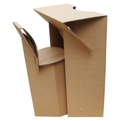 Comptoir d'accueil et Tabouret pliables en carton