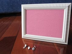 How to: framed pin board from www.craftedblog.com. I plan to use this method for a necklace organizer board.