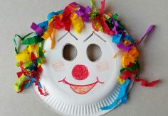 Basteln Karneval Kinder Creative ideas and a collection of my home made decorations. Easy to prepare, handycraft with kids, Kids Crafts, Clown Crafts, Circus Crafts, Carnival Crafts, Carnival Masks, Diy Arts And Crafts, Preschool Crafts, Projects For Kids, Diy For Kids