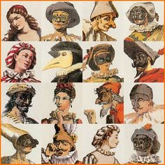 I like this picture because it shows all of the Commedia Del' arte characters wearing their masks and their personalities.  I think this picture does a good job at capturing how each and every stock characters acts and their personality.  The cool is used to show their mood and their facial features whether if they are a kind person or a smart or mean.