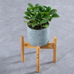 Flower Pot Rack Cross Useful Portable Decorative Wood Plant Stand Pot – Homeinsides