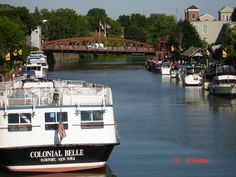 Erie Canal, Fairport, NY. Nice shot of the canal. We cruise along it for the first day before parting off to follow Lake Ontario and then into the Adirondacks.