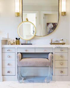 Mirror, transition to vanity