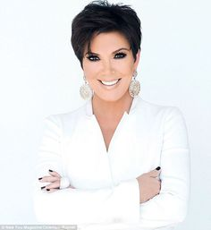 Kris Jenner poses in raunchy black lace outfit for magazine shoot as she reveals she wants to feel sexy 'forever' Short Hair Cuts For Women, Short Hairstyles For Women, Short Haircuts, Blonde Pixie, Short Blonde, Pixie Hairstyles, Pixie Haircut, Hairstyles 2018, Pixie Bangs