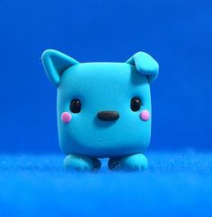Kawaii Cubed Dog. This is so amazingly cute! I wonder what beads they use for the eyes? They really seem to add a certain charm that I don't think plain clay would.