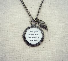 Mumford and Sons - After The Storm Inspired Lyrical Quote Pendant Necklace on Etsy, $15.95