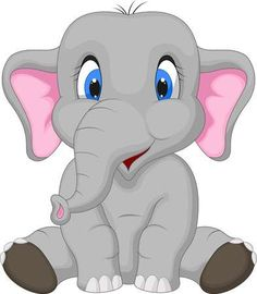 Clip Art of Cute Baby elephant - Search Clipart, Illustration Posters, Drawings, and EPS Vector Graphics Images -