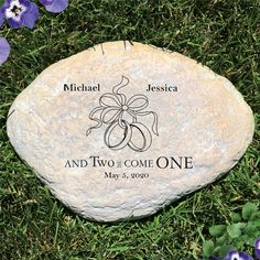 Garden Stone Details Garden Stone Measures x x 1 Designed for indoor or outdoor use Made of durable resin Designed to have a real stone look Hollow, Lightweight & Waterproof Highly detailed with texture variations Not a real stone Traditional Anniversary Gifts, Unique Anniversary Gifts, Personalized Anniversary Gifts, First Wedding Anniversary, Large Garden Stones, Personalized Garden Stones, Word Art Design, Wedding Picture Frames, Special Day