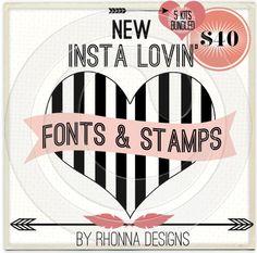 Rhonna DESIGNS: New Insta Lovin' Fonts are UP! PLUS: Rhonna's Instagram Tips