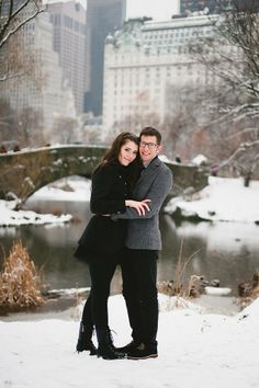 The MOST PERFECT wintry, fresh fallen snow, Central Park portrait!  | bjenright.com
