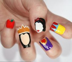 crazy nail art | Snow White nail art 2012 trends Crazy Nail Art 2012 Inspired From ...