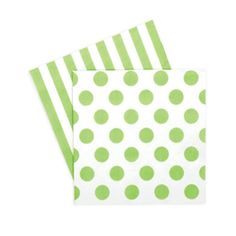 Green Stripe and Polka Dot Napkins | The TomKat Studio Shop