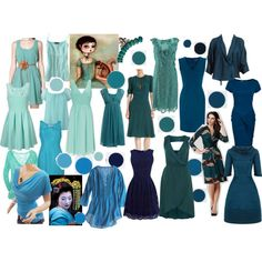 """Dark autumn blues"" by vesna on Polyvore"
