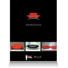 Design Benedict:  Fashion magazine print advertisement.