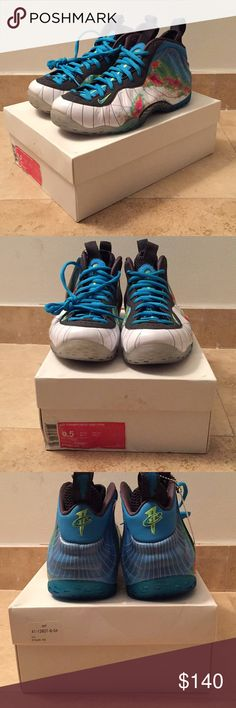 """Air Foamposite One Premium """"Weatherman"""" 100% Authentic  Released On 08/31/2013 Brand New Never Worn  Size 9.5  ORIGINAL BOX* Nike Shoes Sneakers"""