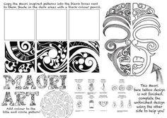 Maori Art Maori are the indigenous people of Aotearoa New Zealand High School Art, Middle School Art, Art Doodle, Art Handouts, Art Aquarelle, New Zealand Art, 6th Grade Art, Art Worksheets, Maori Art