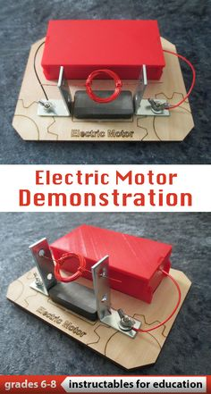 This electric motor demonstrates the basic principals of electromagnetism. This demo is simple to build and only takes a weekend to do so. Also great for a classroom project. #education #middleschoolproject #electronicsproject