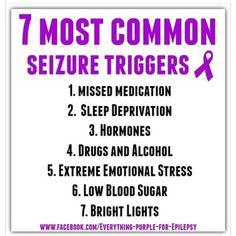 for me: missed medication: eh. sleep deprivation: no. extreme emotional stress: yes. Epilepsy Facts, Epilepsy Quotes, Epilepsy Awareness Month, Epilepsy Tattoo, Temporal Lobe Epilepsy, Epilepsy Seizure, Seizure Symptoms, Seizures Non Epileptic, Seizure Disorder