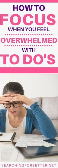 Goals are easy to set. It's deciding what to focus on that's the real challenge. These are some great tips for inspiration and motivation for what to do when you feel swamped by too many things to do.