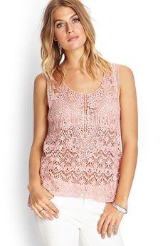 Crochet Lace Tank