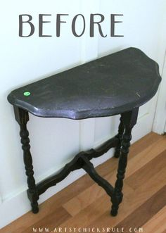 MILK PAINT (and French Graphics)Transformed This Old Antique Table! artsychicksrule.com