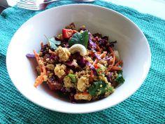 Asian Cashew Quinoa Salad (Vegan & Gluten-Free)