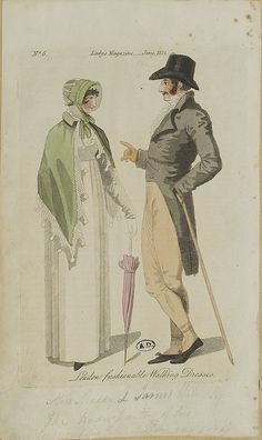 A lady and gentleman, 1812 lady's magazine