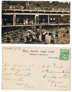 Early Postcard Essex, Westcliff On Sea ,New Swimming Baths ,Children , 1917 RP | eBay