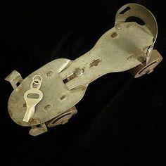 Sterling Silver Retro Skate Key-Fablesintheair.com