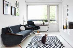 Moderne woonkamer met vintage elementen- KLEED