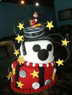 Mickey Mouse Cake at The Cupcake Lounge (Oklahoma City, OK). #cake #mickeymouse