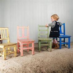 Painted Children's Chairs - Vintage Children's Furniture - Original House Inspiracje pokój dziecięcy http://www.kolory-marzen.pl