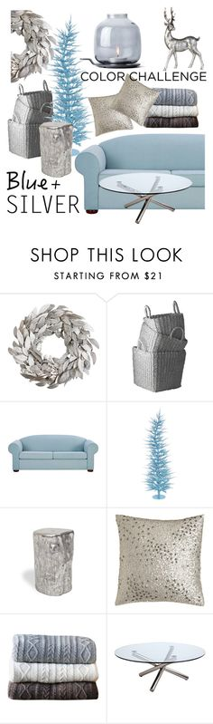 """blue and silver"" by maria-maldonado ❤ liked on Polyvore featuring interior, interiors, interior design, home, home decor, interior decorating, Lazy Susan, Donna Karan, Lene Bjerre and Johanna Howard"