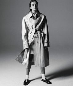 Photographer Daniel Jackson is in the studio, capturing top model Andreea Diaconu in 'Back to Basics', menswear looks styled by Geraldine Saglio for WSJ Magazine March Hair by Yannick D'Is; makeup by Hannah Murray Daniel Jackson, Wsj Magazine, Burberry Trench Coat, Model Test, Mode Editorials, Fashion Editorials, Img Models, Fashion Portfolio, Michael Kors Collection