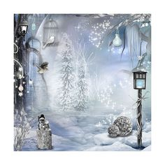 Peaceful Winter ❤ liked on Polyvore featuring backgrounds, winter, christmas, pictures and sliki