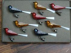 ptáčci, foukané sklo