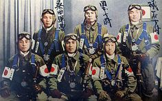 Heroic and courageous Japanese suicide pilots before leaving for his mission to attack the naval fleet of the US Navy in the Battle of Okinawa: Too bad I can not identify them by name to honor best - Pin it by GUSTAVO BUESO-JACQUIER