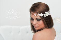 Blumenkranz Hochzeit Haarband Blumen Haarschmuck von Princess Mimi  auf DaWanda.com