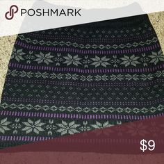 Black and purple sweater skirt Black and purple sweater skirt Body Central Skirts Mini