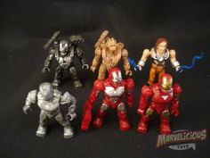 MEGABLOKS IRON MAN 2 MINI FIGS // Marvelicious Toys - The Marvel Universe Toy & Collectibles Podcast